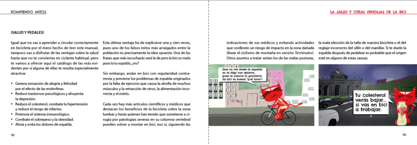 Manual ilustrado de ciclismo urbano del gato Peáltez 10