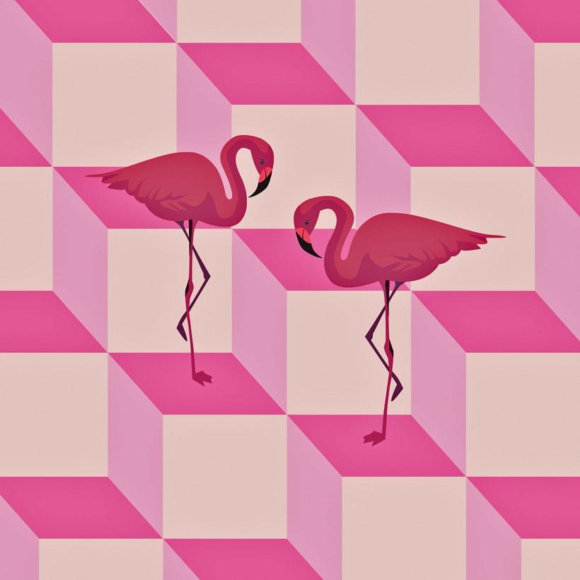 Pink Flamingos -1