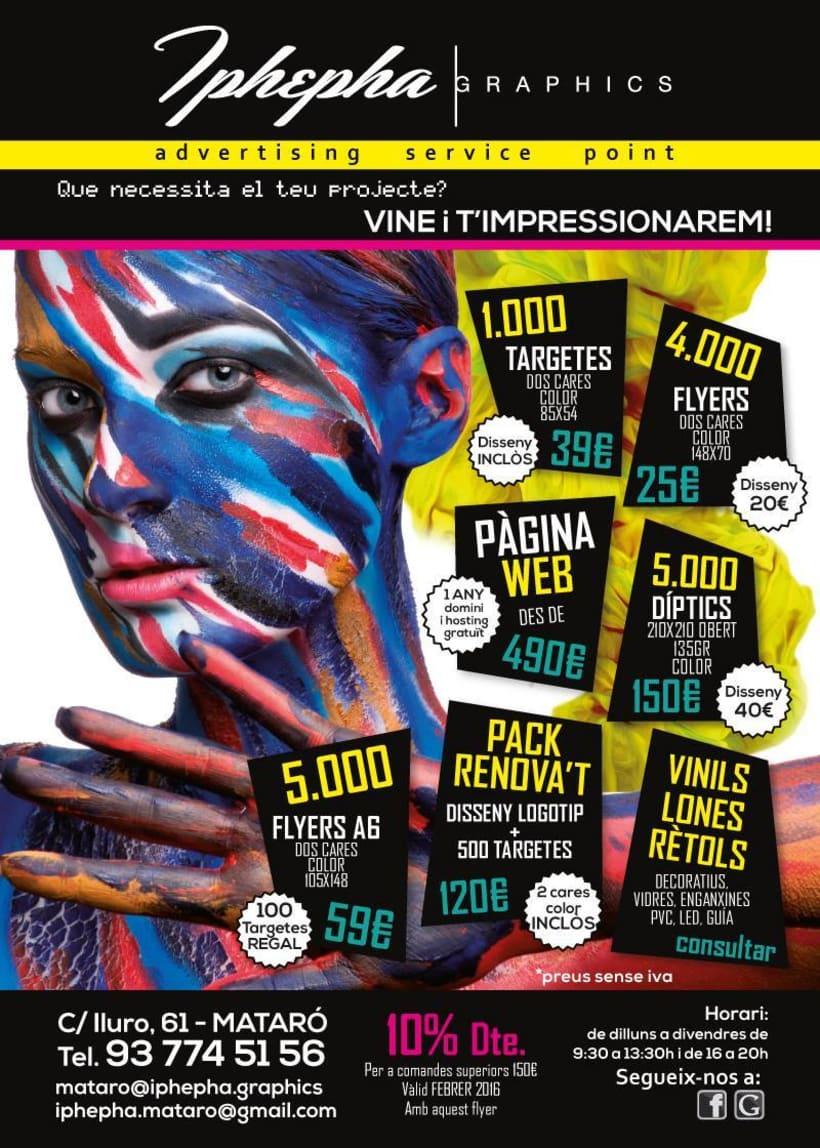 """""""Vine i t'impressionarem!"""" - Diseño gráfico. Campaña publicidad Iphepha Graphics 0"""