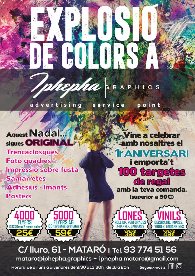 """""""Vine i t'impressionarem!"""" - Diseño gráfico. Campaña publicidad Iphepha Graphics 1"""