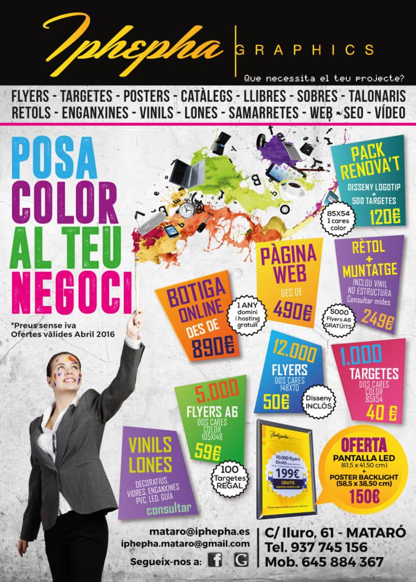 """""""Vine i t'impressionarem!"""" - Diseño gráfico. Campaña publicidad Iphepha Graphics 2"""