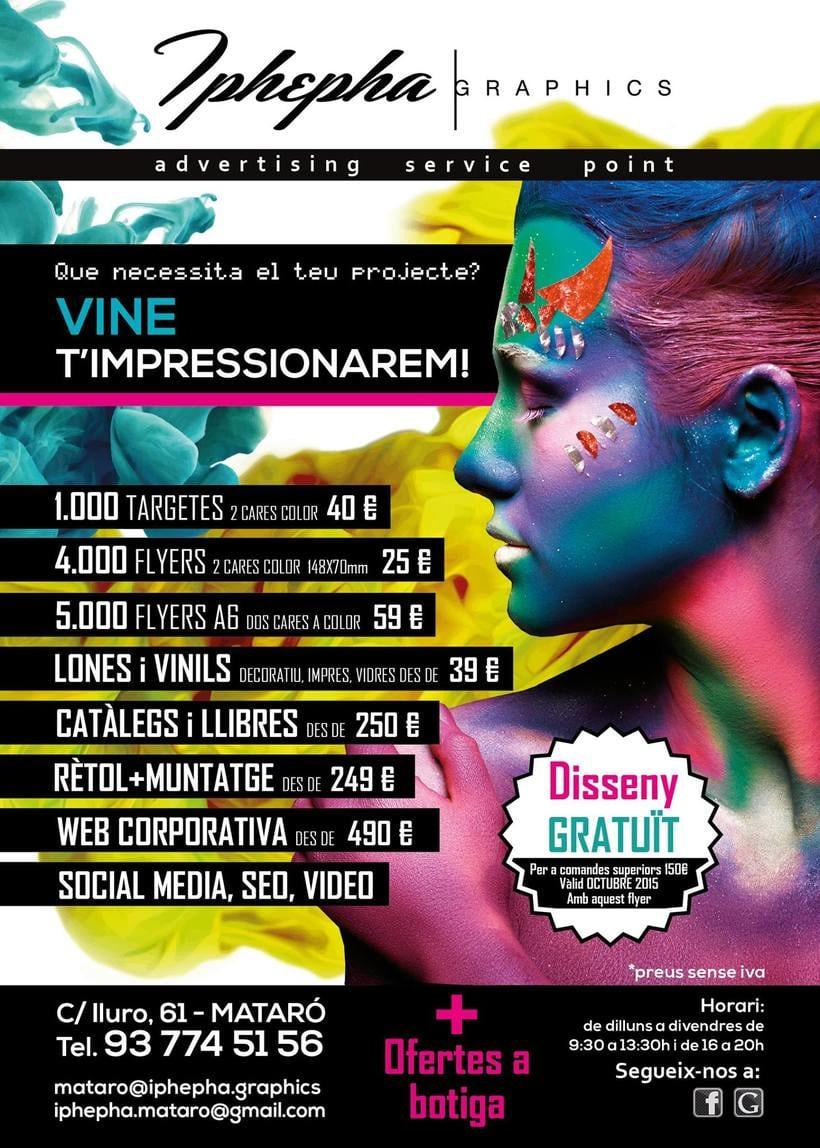 """""""Vine i t'impressionarem!"""" - Diseño gráfico. Campaña publicidad Iphepha Graphics 4"""