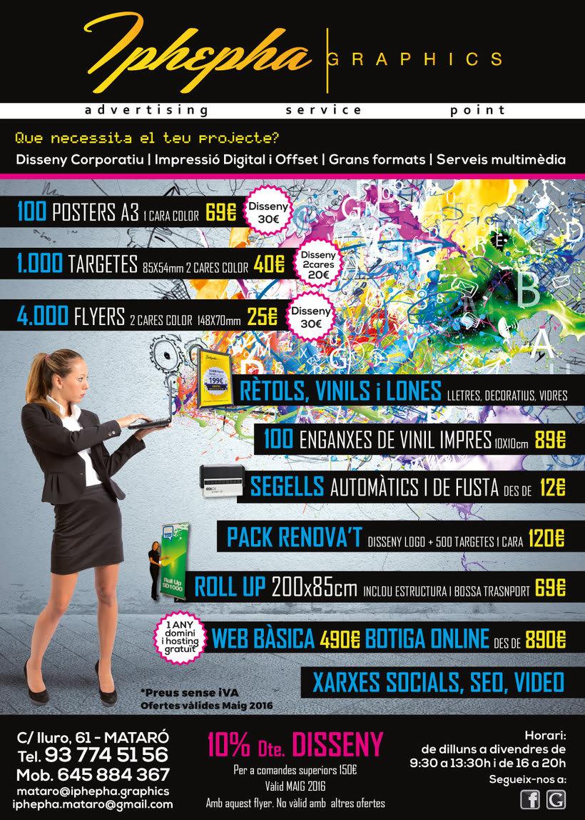 """""""Vine i t'impressionarem!"""" - Diseño gráfico. Campaña publicidad Iphepha Graphics 6"""