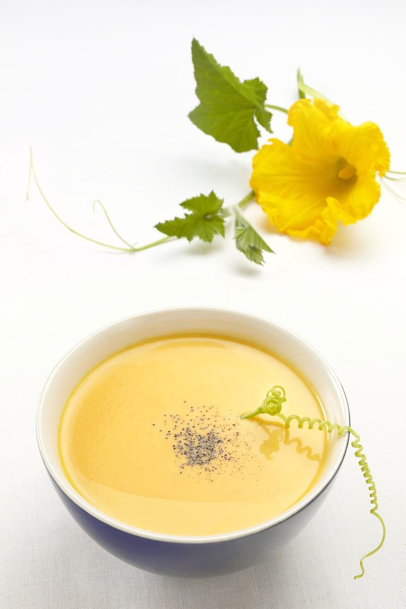 Crema y flor de calabaza 0