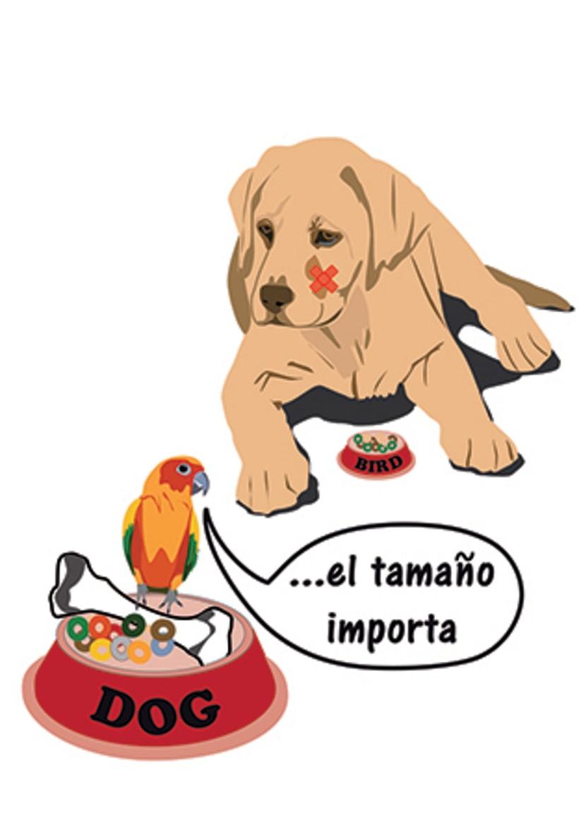 Perro y pajaro Illustrator -1