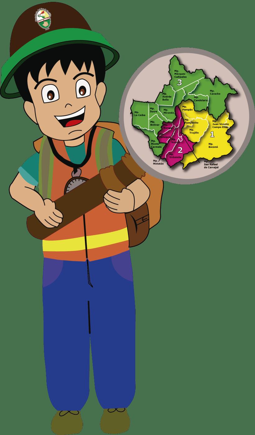 Ilustración de un muñeco para un programa ambiental   -1