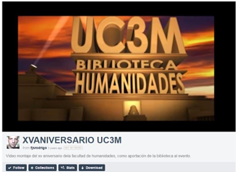 Video montaje del XV Aniversario de la facultad de humanidades, como aportación de la biblioteca al evento. -1