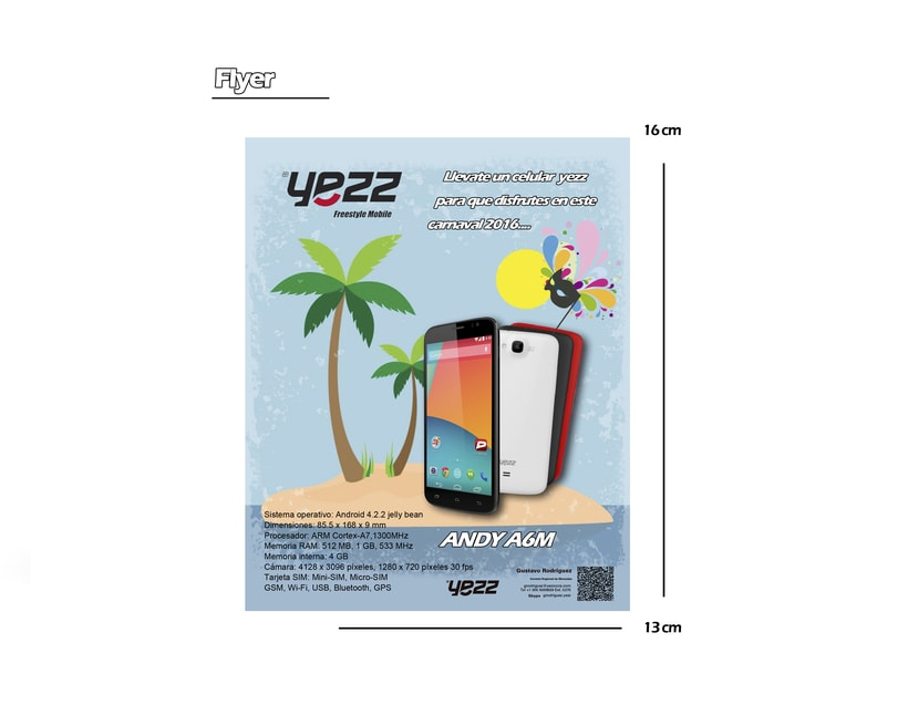 Propuesta para celulares YEZZ 0