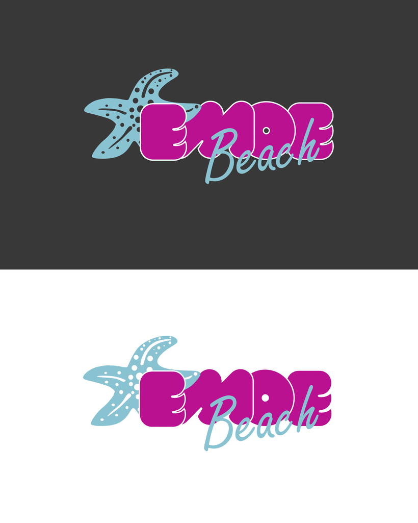 Logo para empresa de ropa Emoe Beach 2