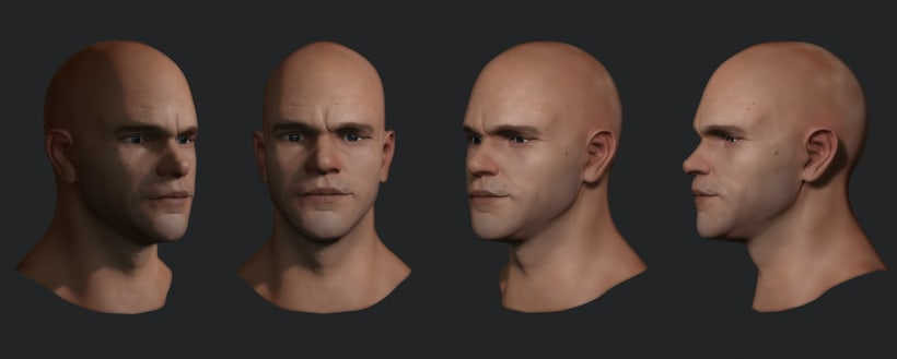 Matt Damon 3D process. Work in progress. ‪#‎Zbrush‬ 1