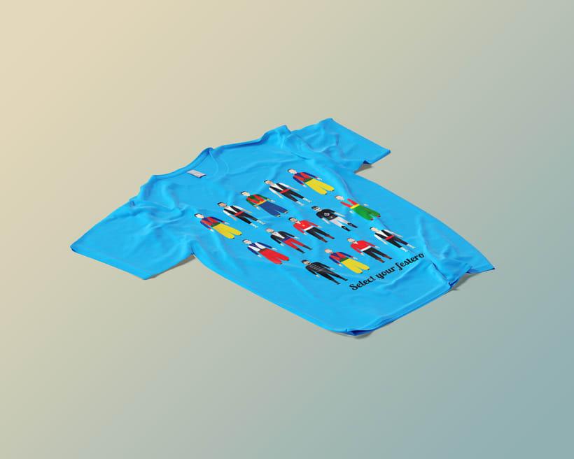 """Camiseta personalizada """"Moros y Cristianos"""" -1"""