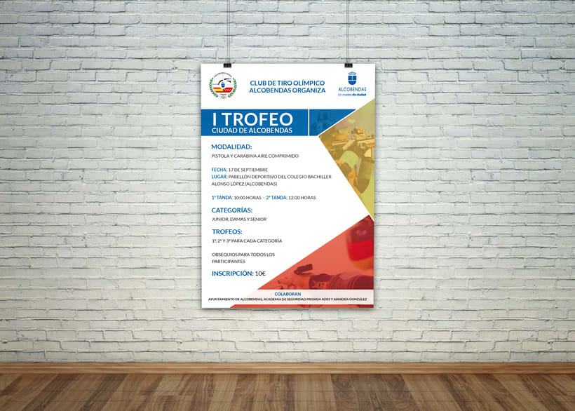 Poster para el Club de Tiro Olímpico Alcobendas (I Trofeo Ciudad de Alcobendas) 0
