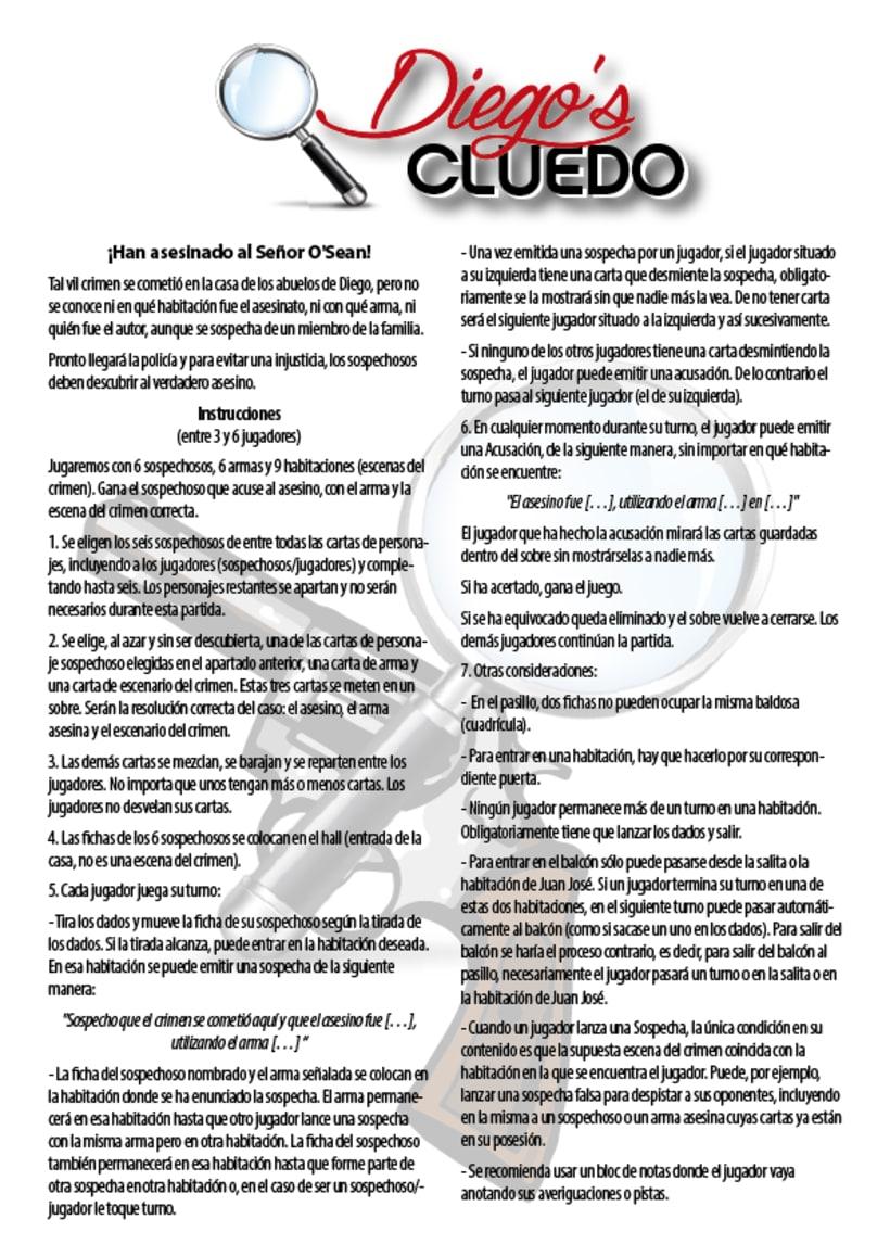Juego de tablero: Diego's cluedo 6