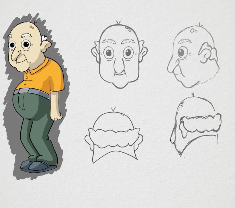 Diseño de personaje Abuelo -1