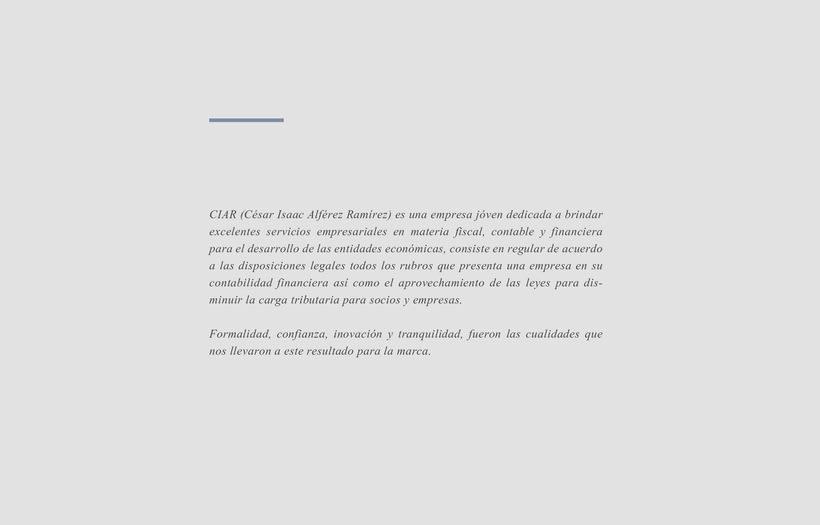 CIAR. Propuesta 1 0