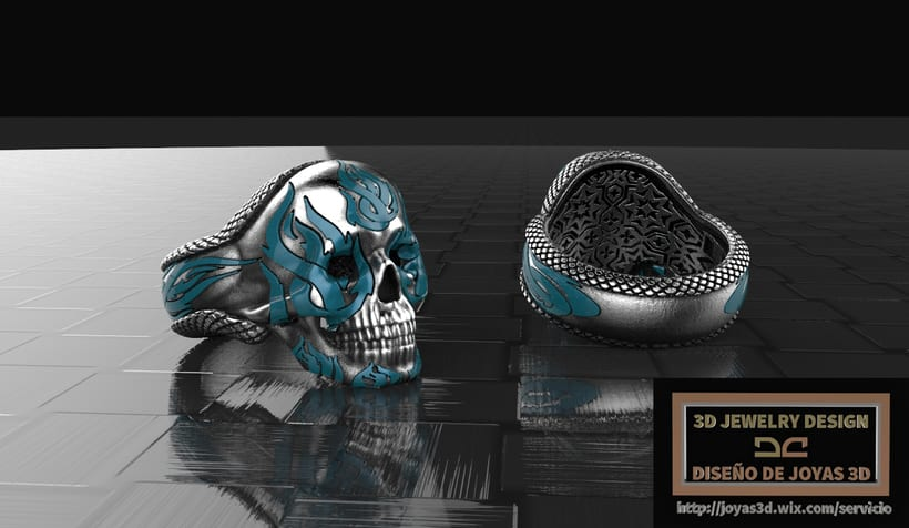 fire skull ring -1