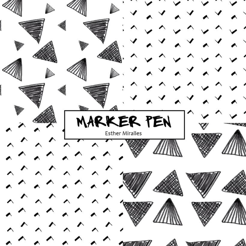 MarkerPen patterns B/W -1