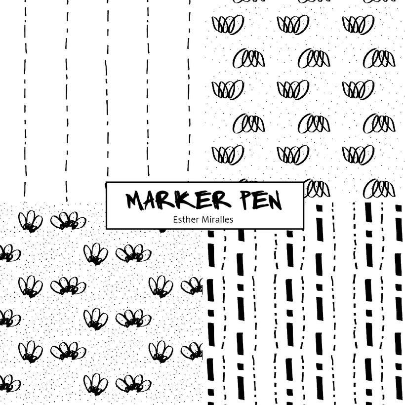 MarkerPen patterns B/W 0