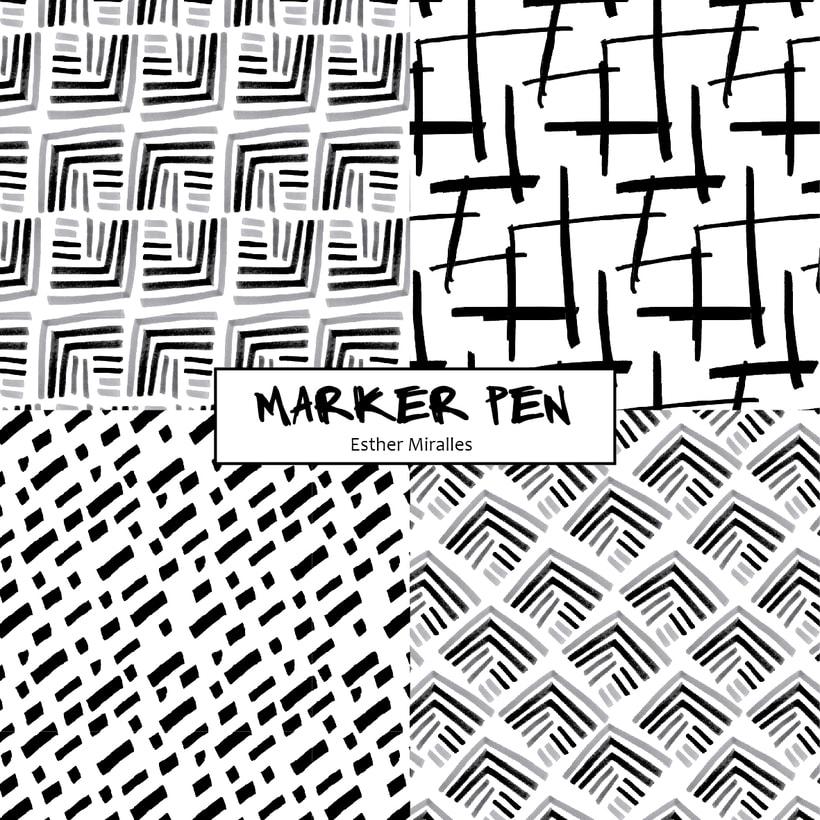 MarkerPen patterns B/W 1