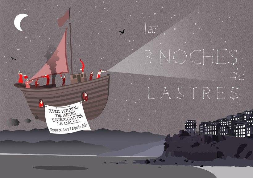 Cartel Las tres noches de Lastres 0