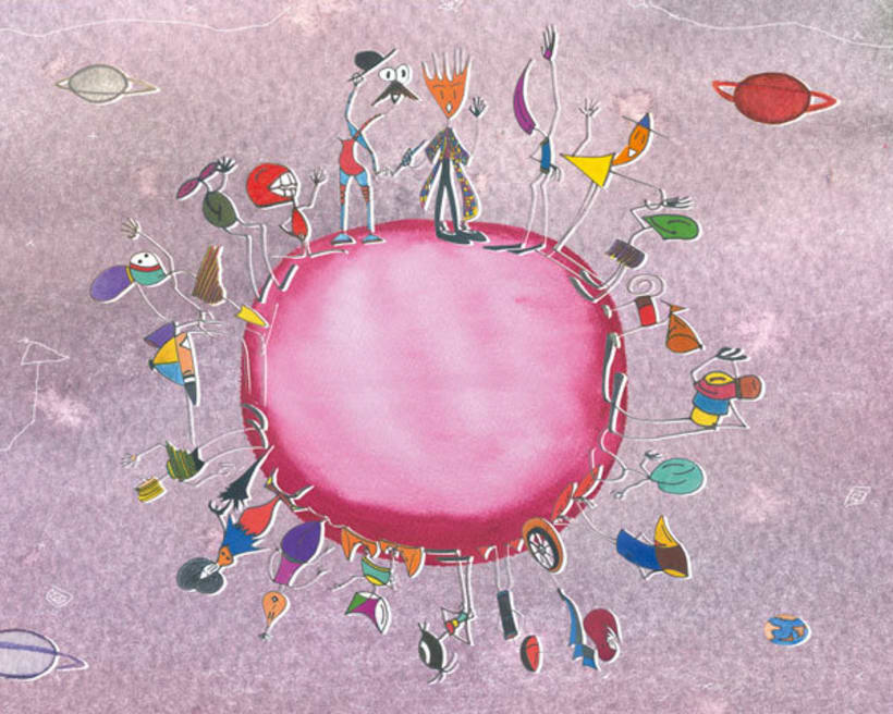 """Ilustraciones """"Eloísa y el virus de la gripe"""" 2"""