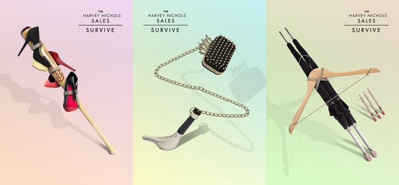 """Harvey & Nichols Sales. Campaña """"Survive"""" 0"""