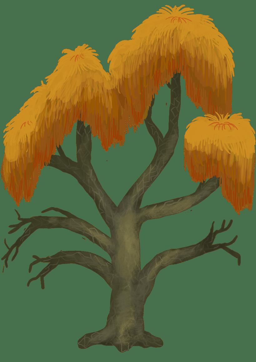Diseño de árboles  para videojuego -1