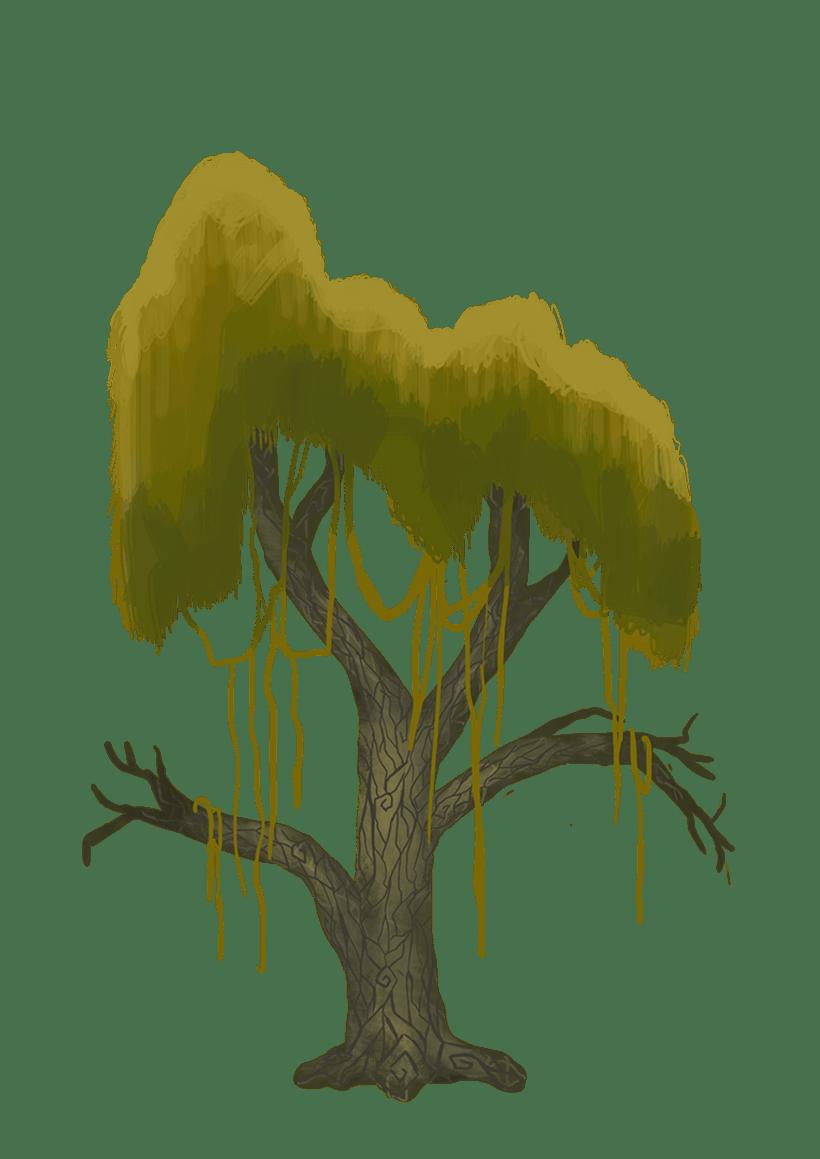 Diseño de árboles  para videojuego 1