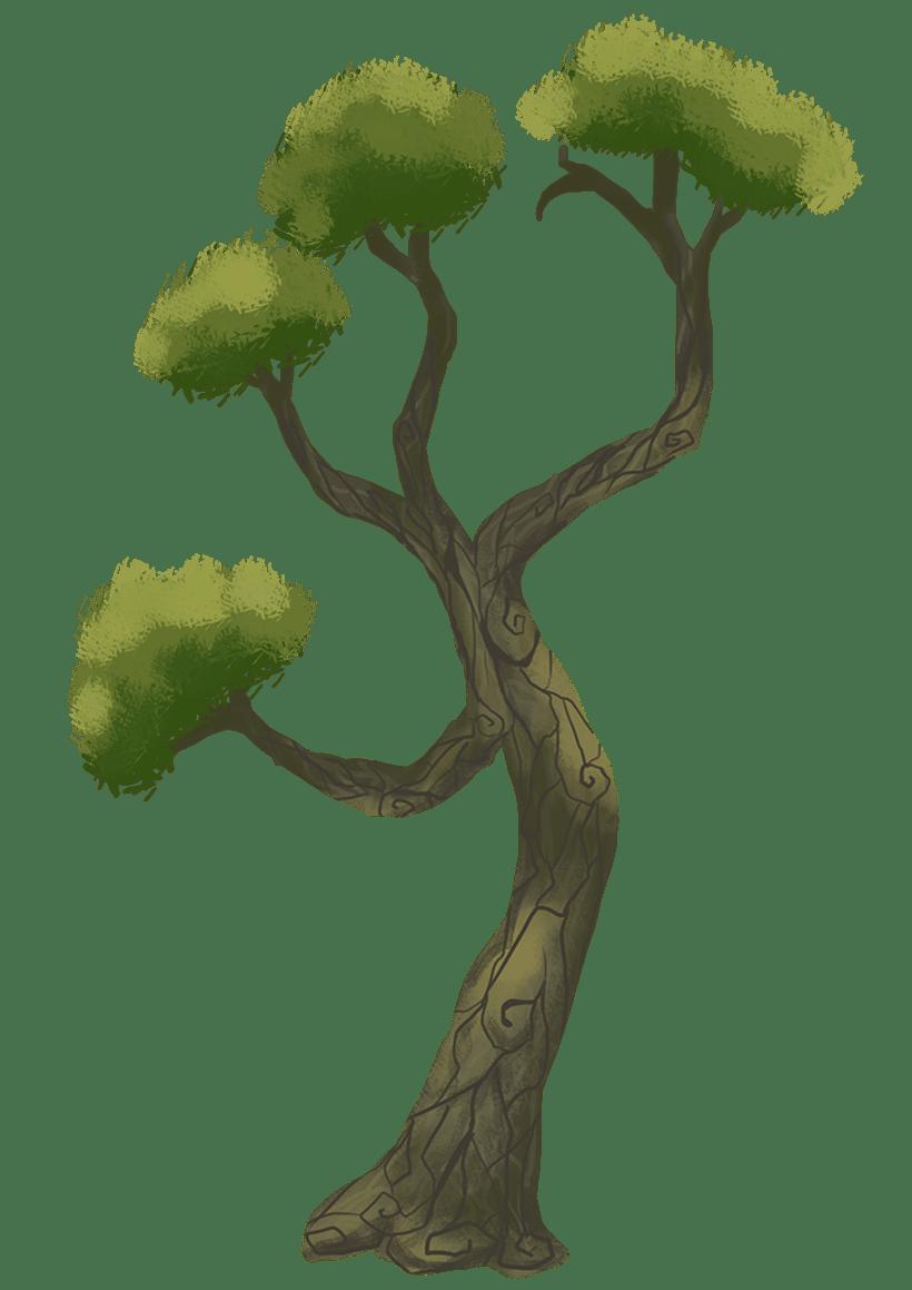 Diseño de árboles  para videojuego 2