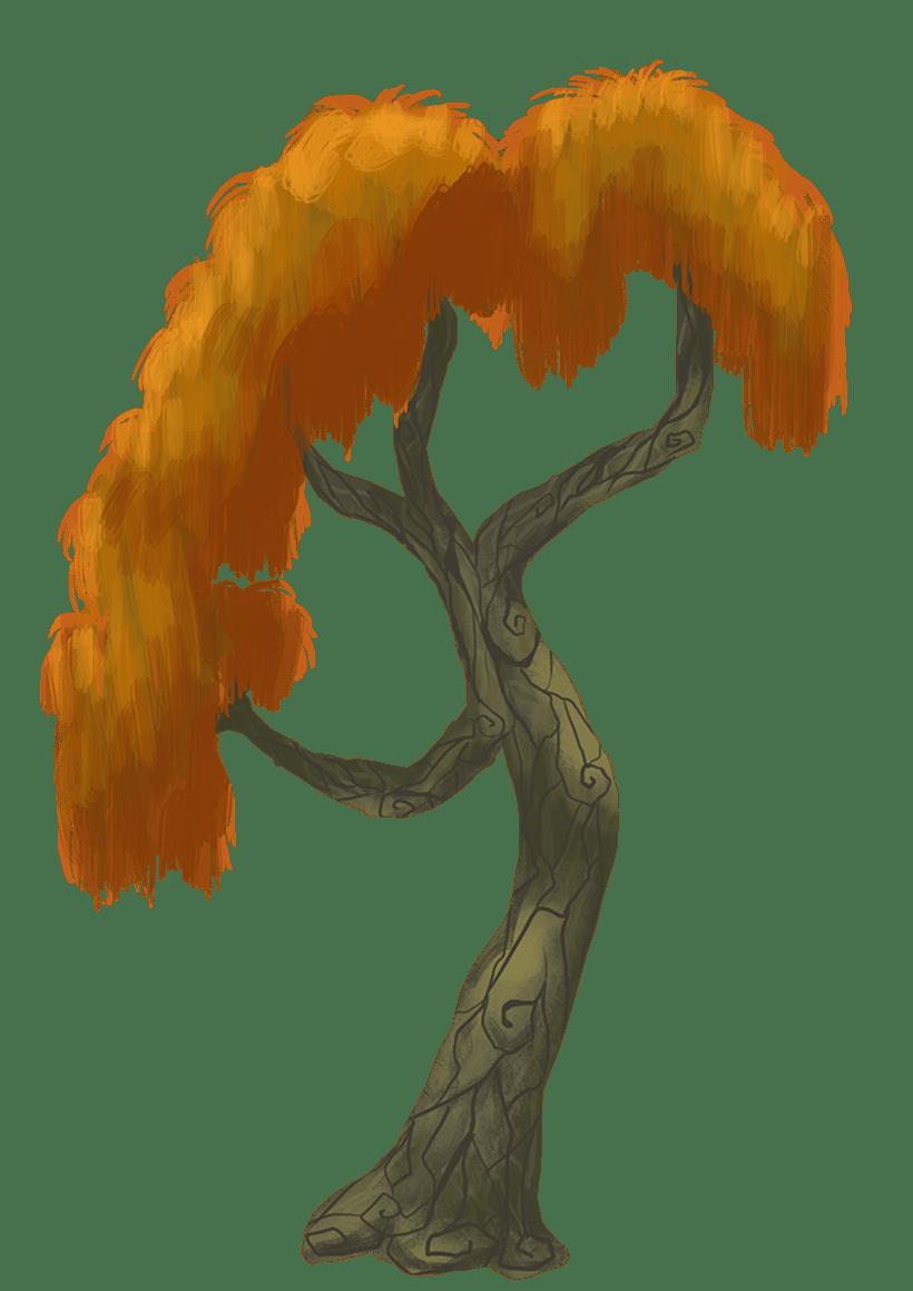 Diseño de árboles  para videojuego 3