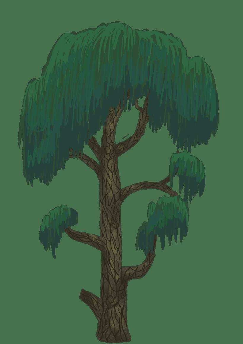 Diseño de árboles  para videojuego 6