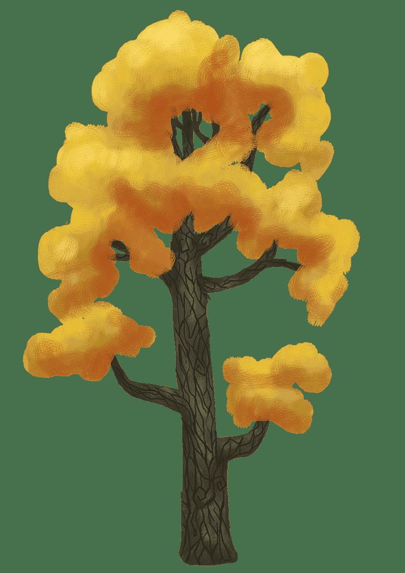 Diseño de árboles  para videojuego 7