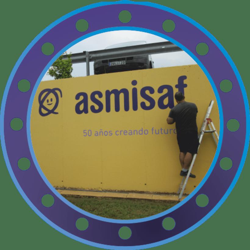 Rotulación muro de ASMISAF 5
