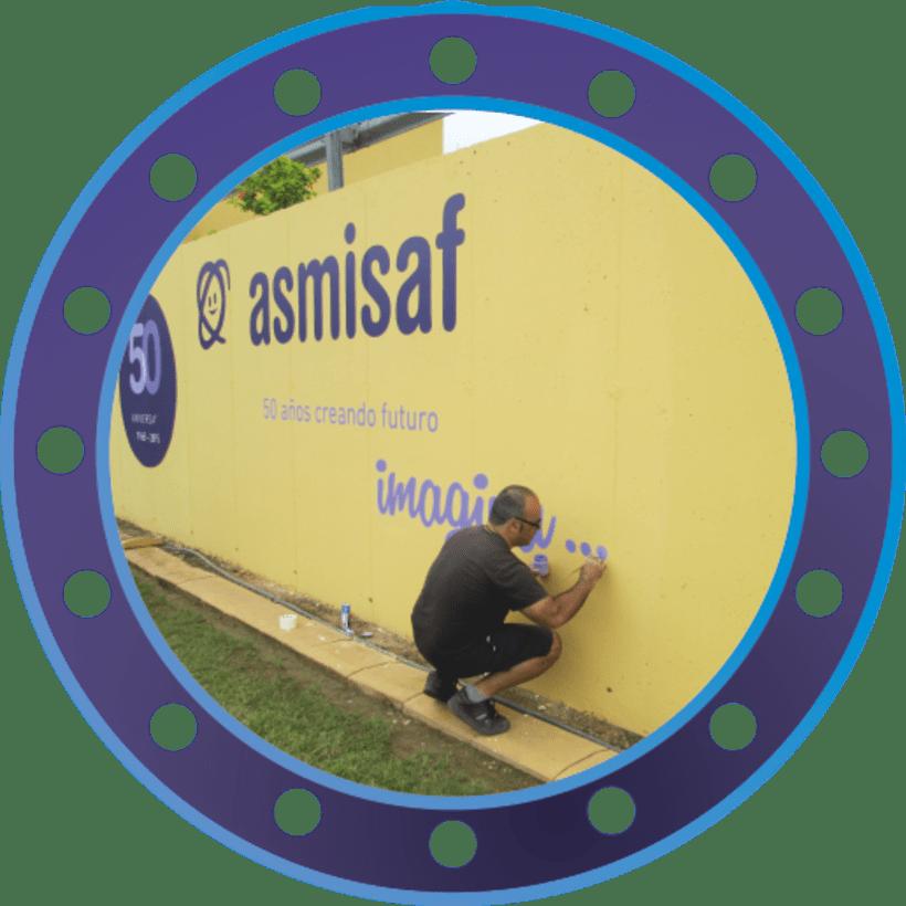Rotulación muro de ASMISAF 6