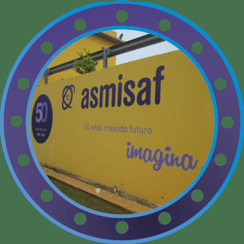 Rotulación muro de ASMISAF 7