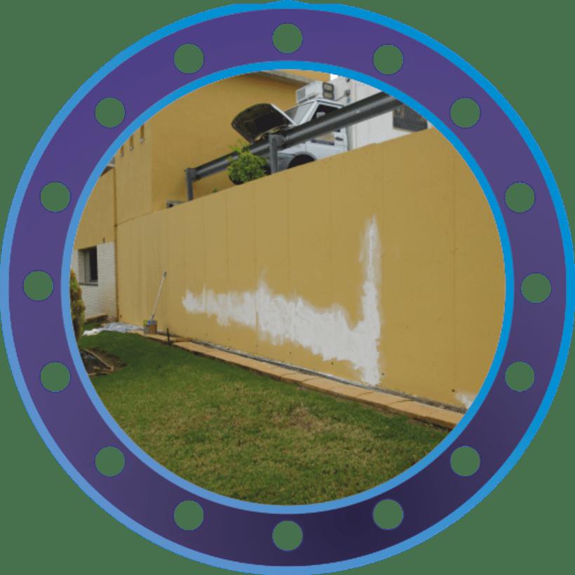 Rotulación muro de ASMISAF 1