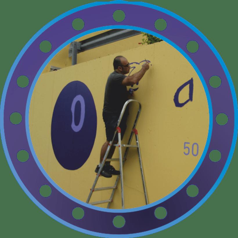 Rotulación muro de ASMISAF 3