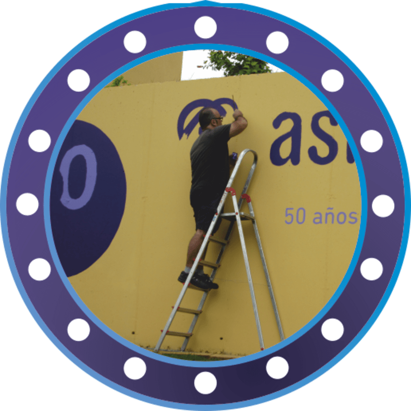 Rotulación muro de ASMISAF 4