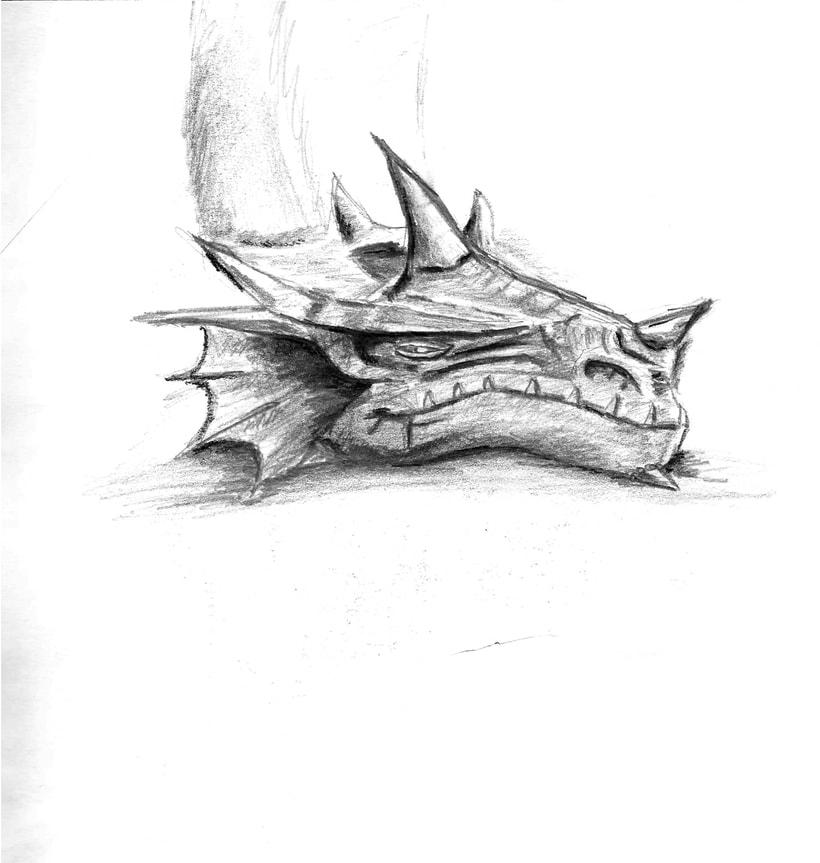 Ilustración de bustos de dragón -1