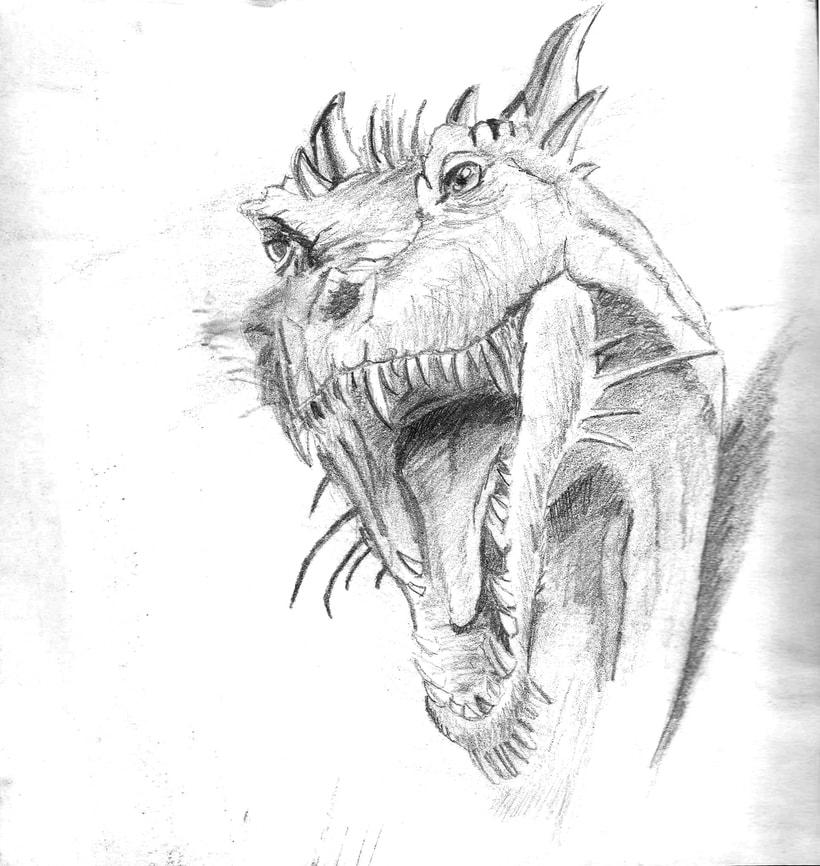 Ilustración de bustos de dragón 2