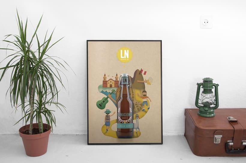 LA NACIONAL Brewery Co.  Ilustración exprés con Illustrator y Photoshop 2
