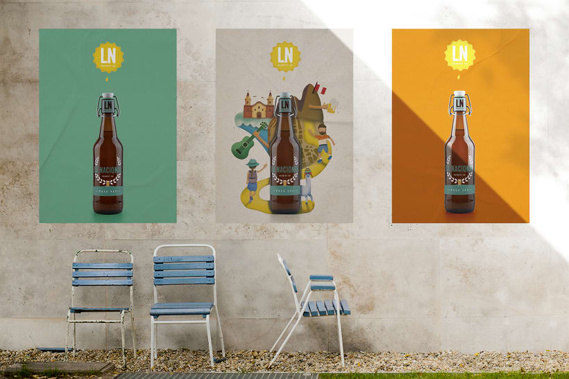 LA NACIONAL Brewery Co.  Ilustración exprés con Illustrator y Photoshop 3