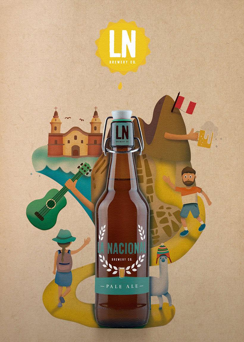LA NACIONAL Brewery Co.  Ilustración exprés con Illustrator y Photoshop 1