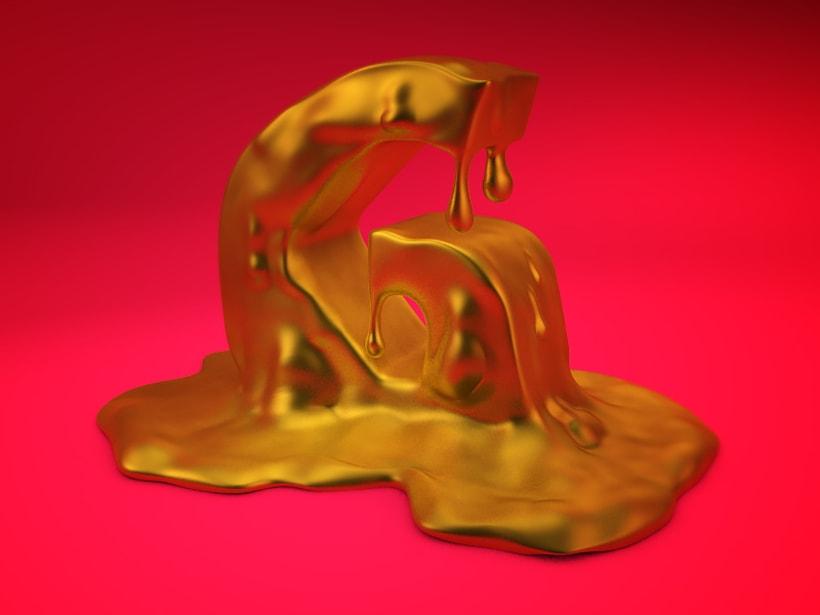 Mi Proyecto del curso: Lettering 3D: modelado y texturizado con Cinema 4D 1