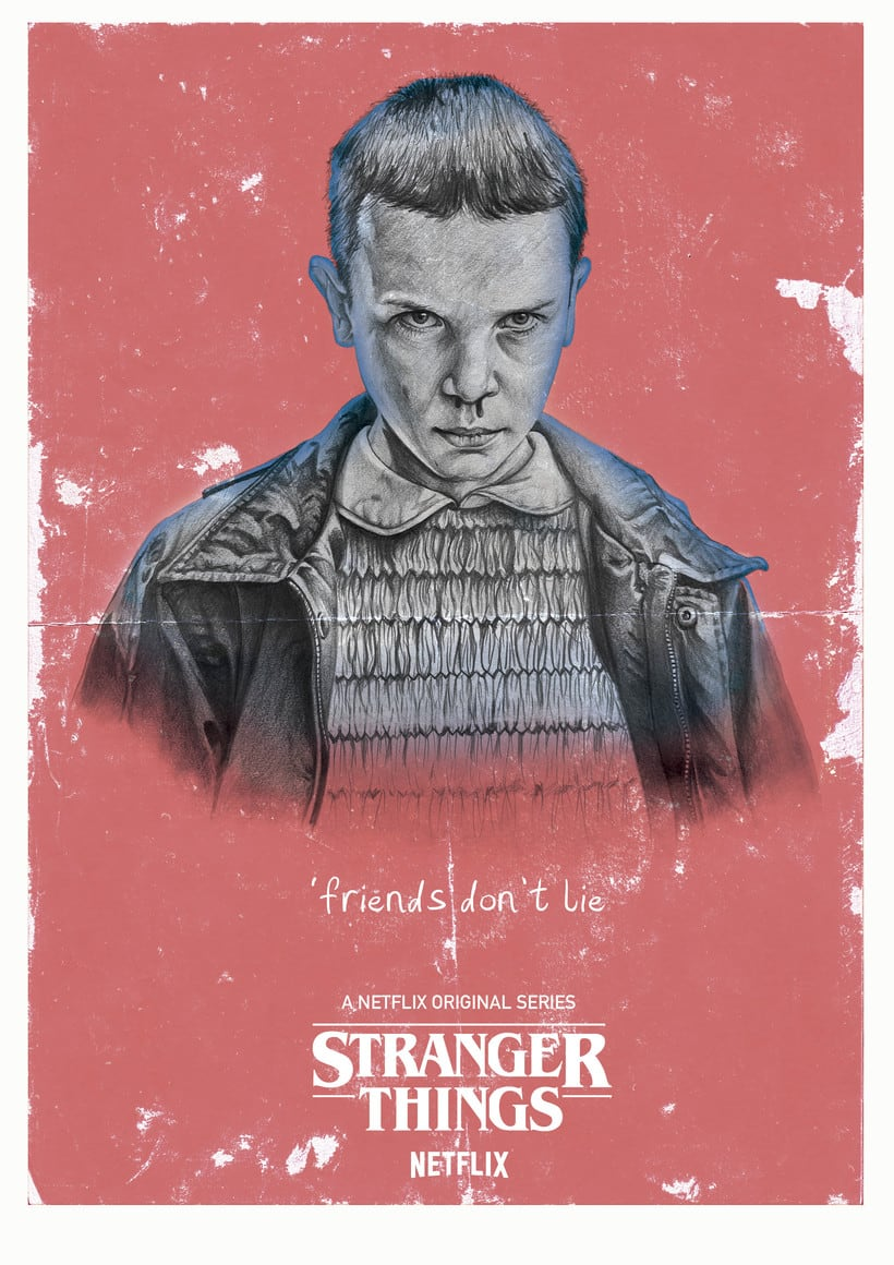 Mi Proyecto del curso: POSTER Stranger Things 1