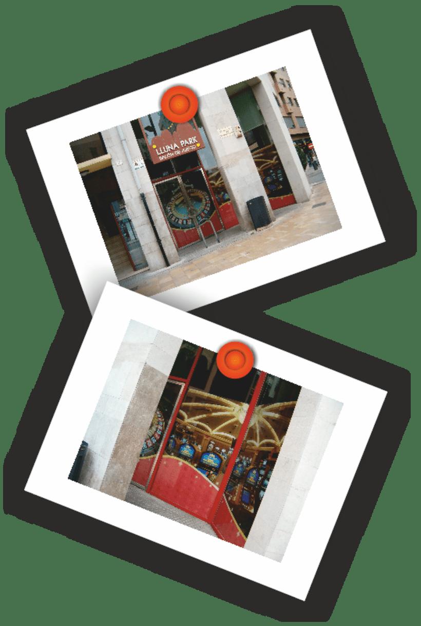Diseño cristalera Salón de Juegos Lluna Park 9