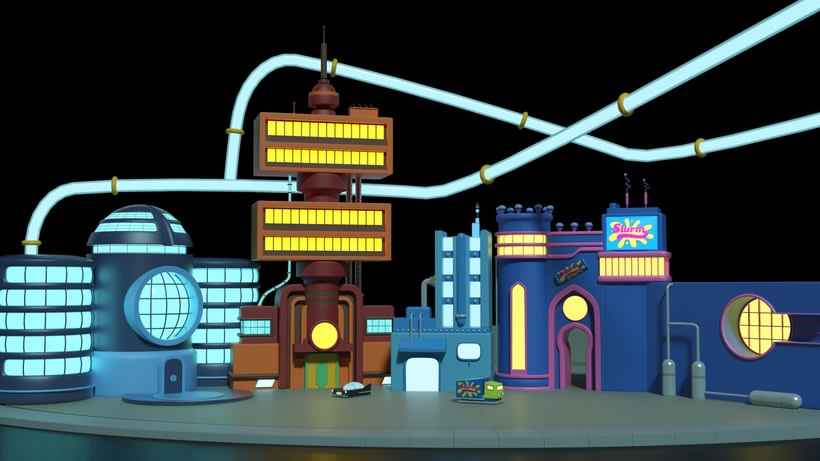 FUTURAMA'S BUILDINGS SCENE -1