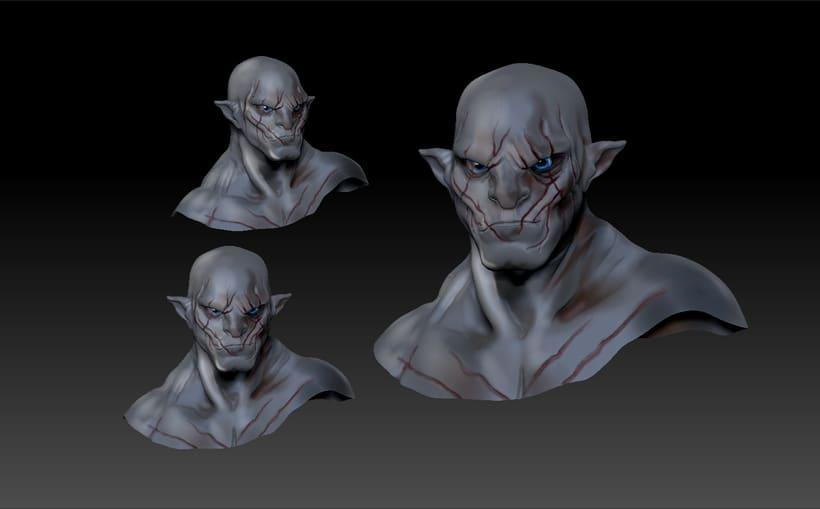 Azog personaje en 3D -1