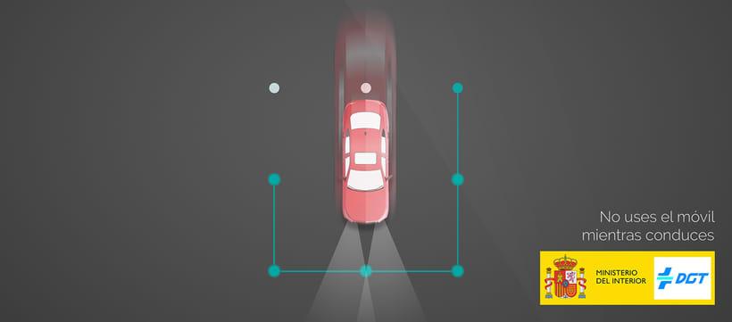 Campaña de concienciación contra el uso del teléfono móvil mientras conduces. DGT 1