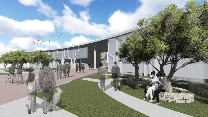 """""""Escuela de artes Escénicas para barrio San Martín"""" (Primera aproximacion) - UNC/FAUD 0"""
